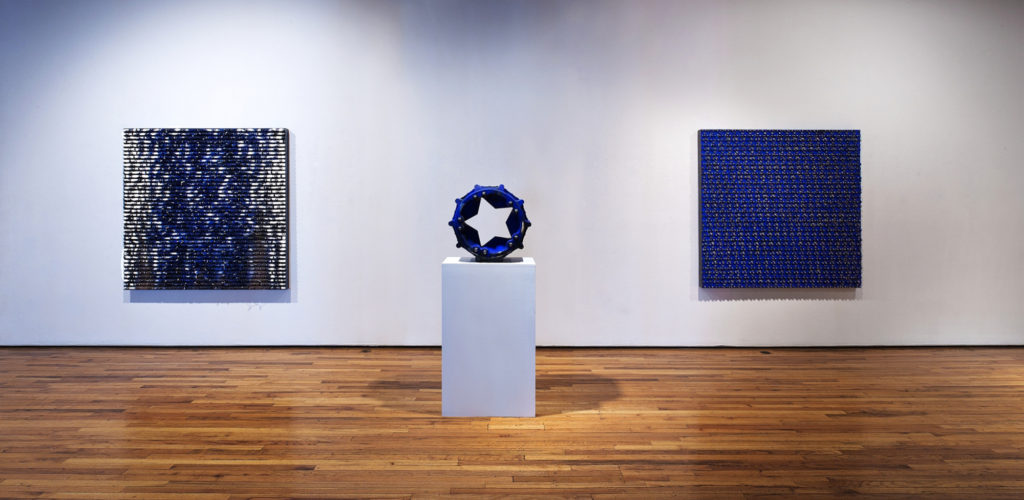 <strong>Cobalt, And Other Elements (2011)</strong><br> Installation: OK Harris Gallery, New York, NY<br> Dimensions Variable